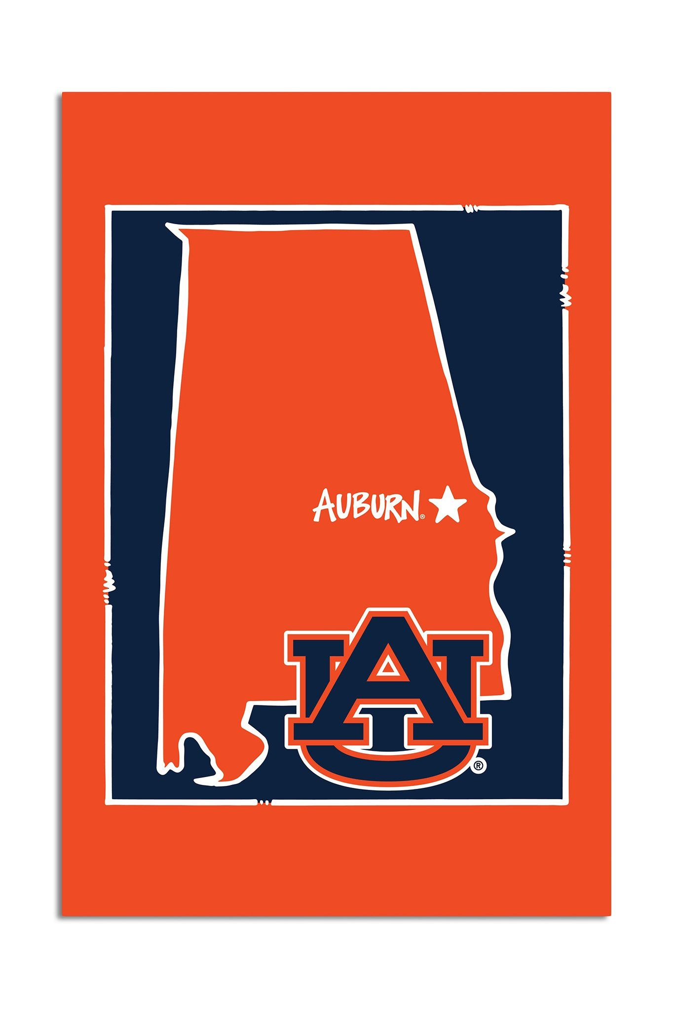 Auburn University State Logo Garden Flag Auburn University Logo Garden Auburn