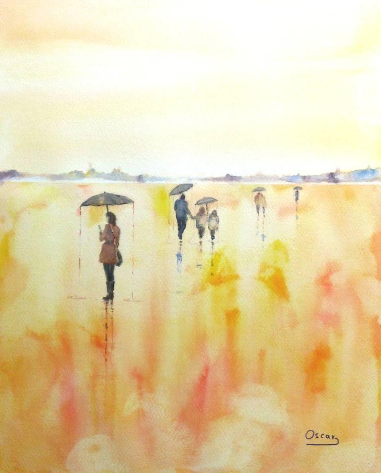 "Saatchi Art Artist OSCAR ALVAREZ; Painting, ""PASEOS POR EL CIELO XI"" #art"