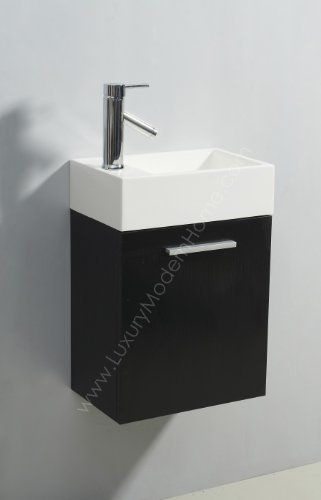 Vs Alexius Black 16 X 10 Inch Small Vanity Sink Flo Https Www Amazon Com Dp B008la Small Vanity Sink Small Bathroom Vanities Small Bathroom Cabinets