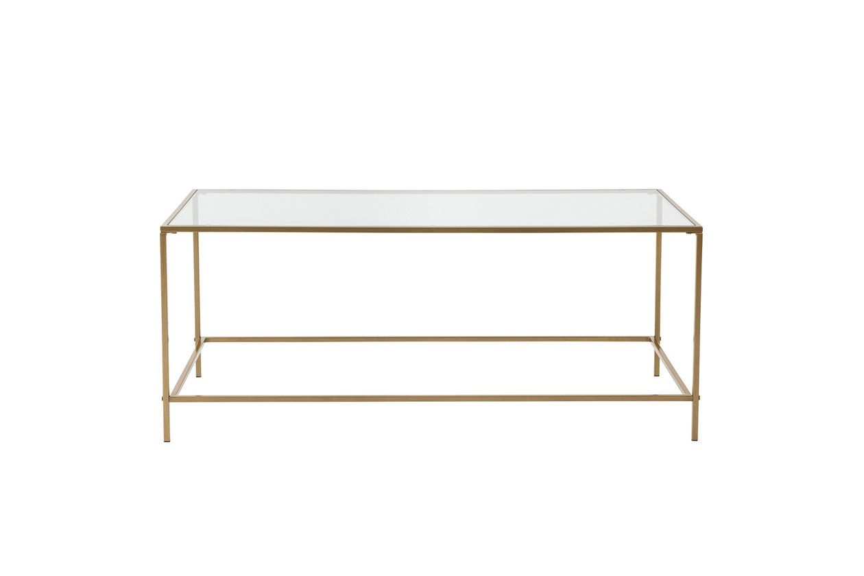 Arvi Arvi 44 Coffee Table In Clear Glass With Brass Base Ashley Furniture Homestore Coffee Table Clear Coffee Table Contemporary Coffee Table [ 840 x 1260 Pixel ]