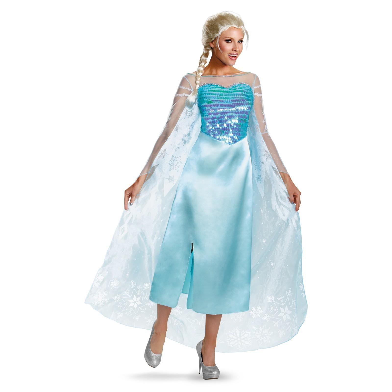 Disney Frozen - Deluxe Elsa Dress  sc 1 st  Pinterest & Disneys Frozen Womens Elsa Deluxe Costu | Pinterest | Costumes ...