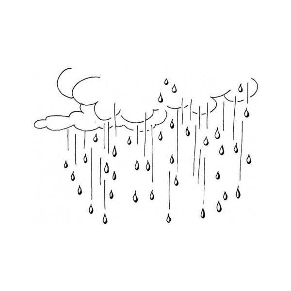 Raining coloring page liked on Polyvore featuring fillers ...