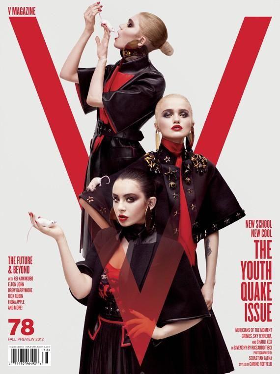 V July 2012 Three Covers (V Magazine)