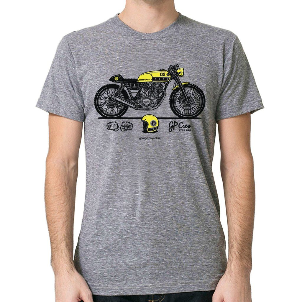 Yamaha SR400 Cafe Racer T-Shirt GarageProject101 GP Crew 002