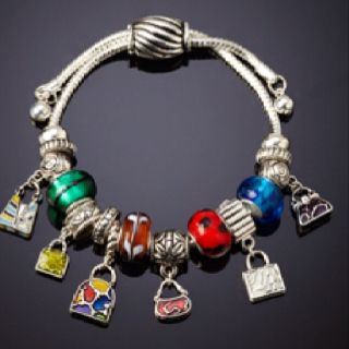 Landau Ambrosia Multi Bead Handbag Theme Bracelet 19 99