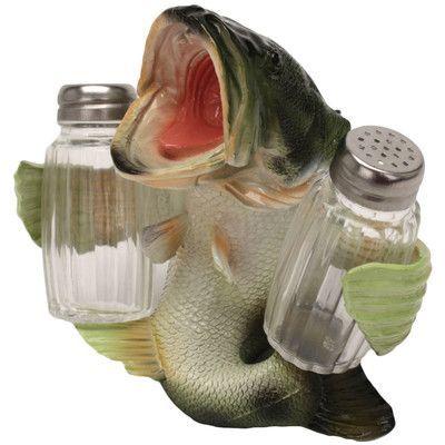 Rivers Edge Bass Salt and Pepper Shaker