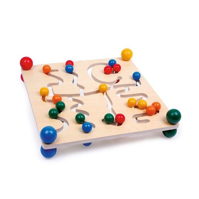 juguetes de madera educativos tabla con laberinto de motricidadu