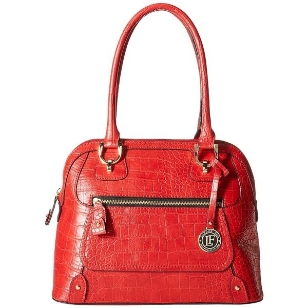 London Fog Knightsbridge Dome Ruby 1 Satchel Handbags 81 Liked On Polyvore Featuring Bags Red