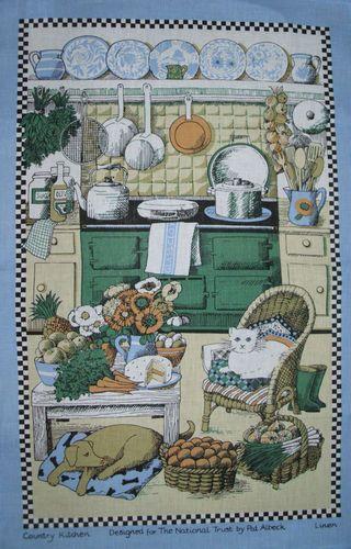 NEW & UNUSED ULSTER WEAVERS AGA TEA TOWEL PAT ALBECK (MIL of EMMA BRIDGEWATER ) | eBay