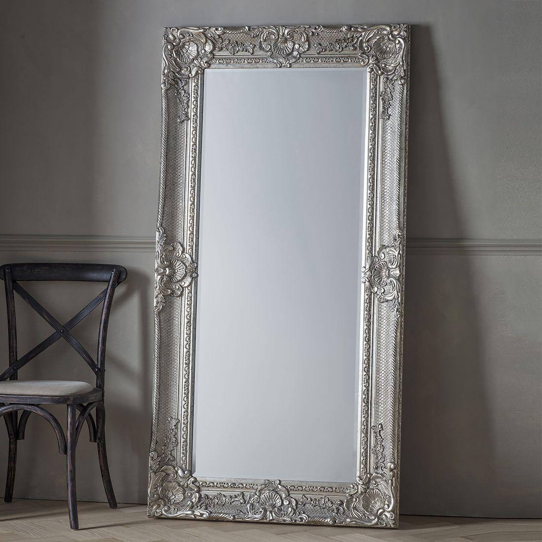 Eleanor Silver Full Length Mirror Primrose Plum Leaner Mirror Ornate Mirror Baroque Mirror