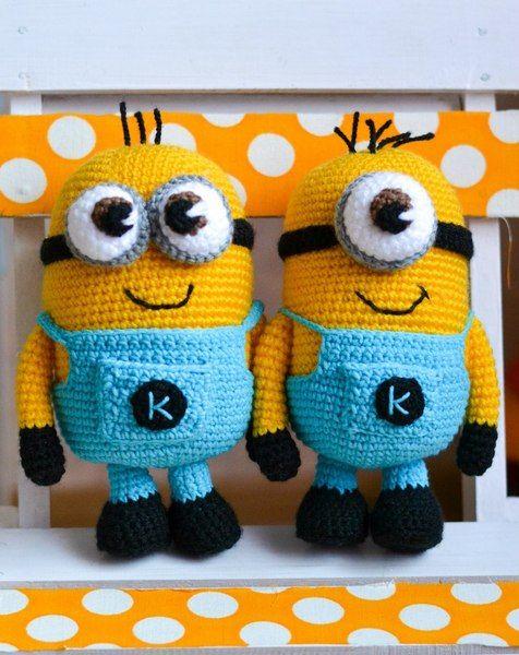 Crochet Pattern Minion | Gehäkelte tiere, Häkeln und Häkelideen