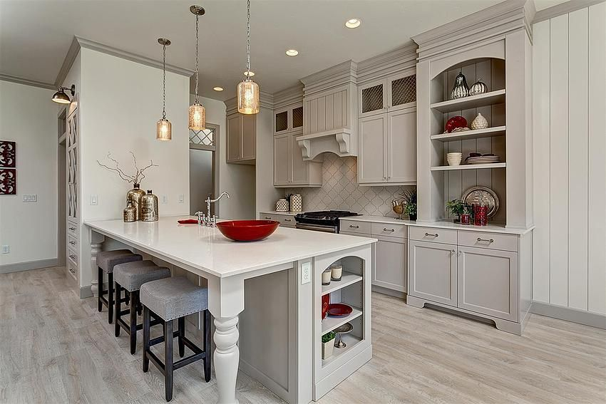 Homes Interiors   Apparition Custom Cabinetry With Furniture Legs And Wire  Mesh