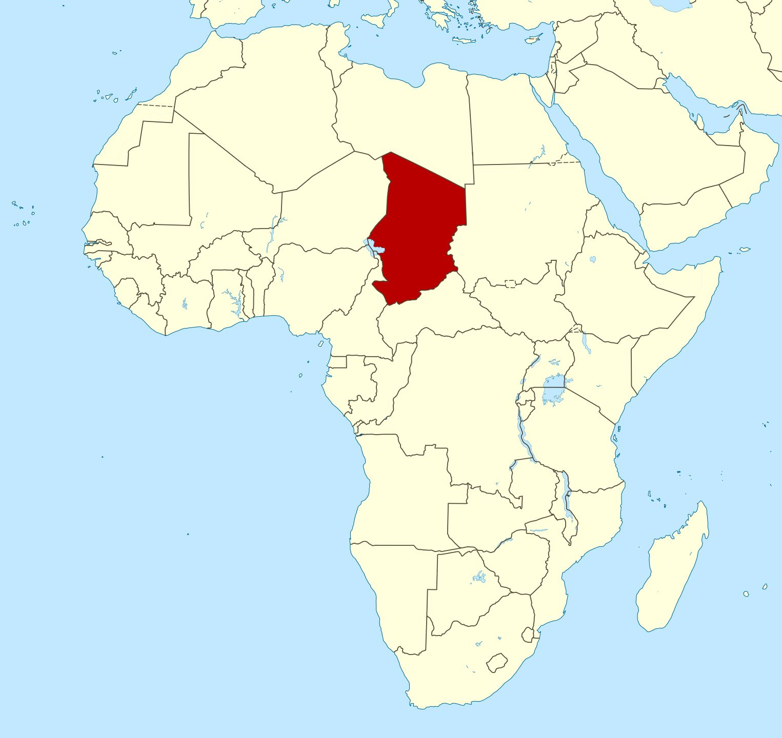Image Result For Map Of Chad Africa