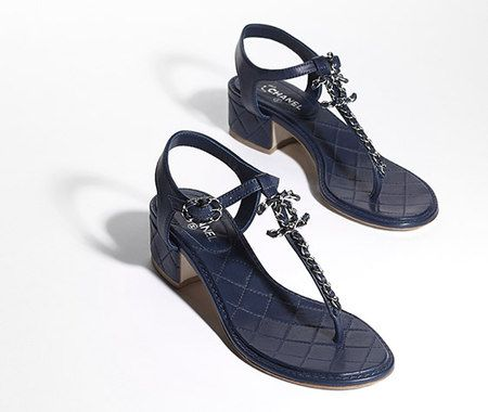 7d6309e78 Lambskin sandals with CC signature and... - CHANEL