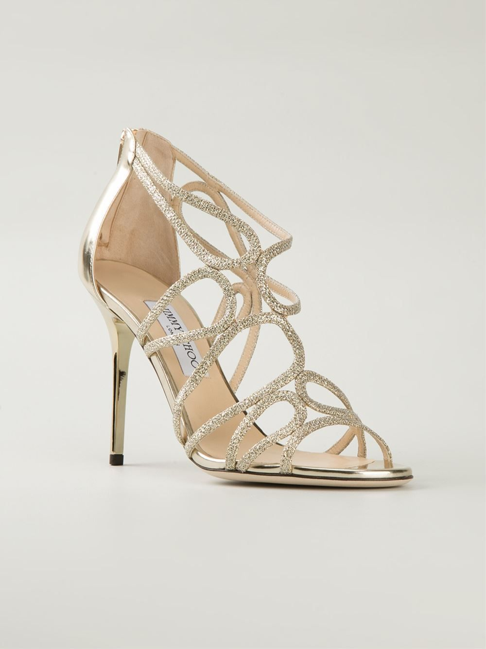 583ad0d9d7dc Jimmy Choo  Layla  Sandals in Gold (metallic)