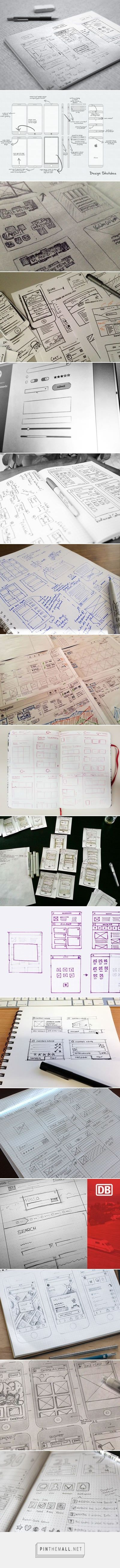 UI & Wireframe Sketches - created via https://pinthemall.net. If you like UX, design, or design thinking, check out theuxblog.com podcast https://itunes.apple.com/us/podcast/ux-blog-user-experience-design/id1127946001?mt=2