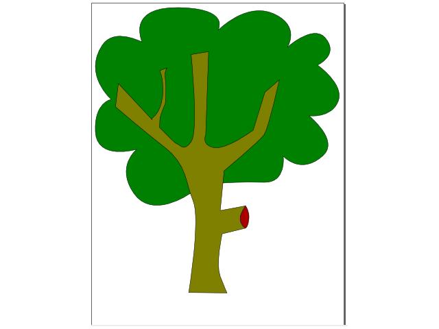 Imagens De Arvore Para Imprimir: Desenho De Arvore Colorida Para Imprimir