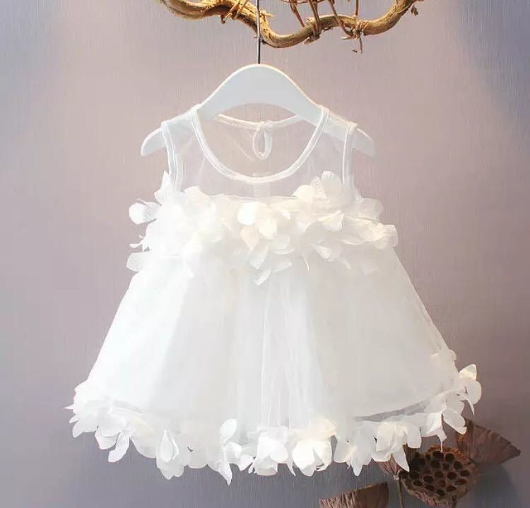 New Baby Girls Ivory White Lace Christening Party Dress 0 3 6 12 18 24 Months