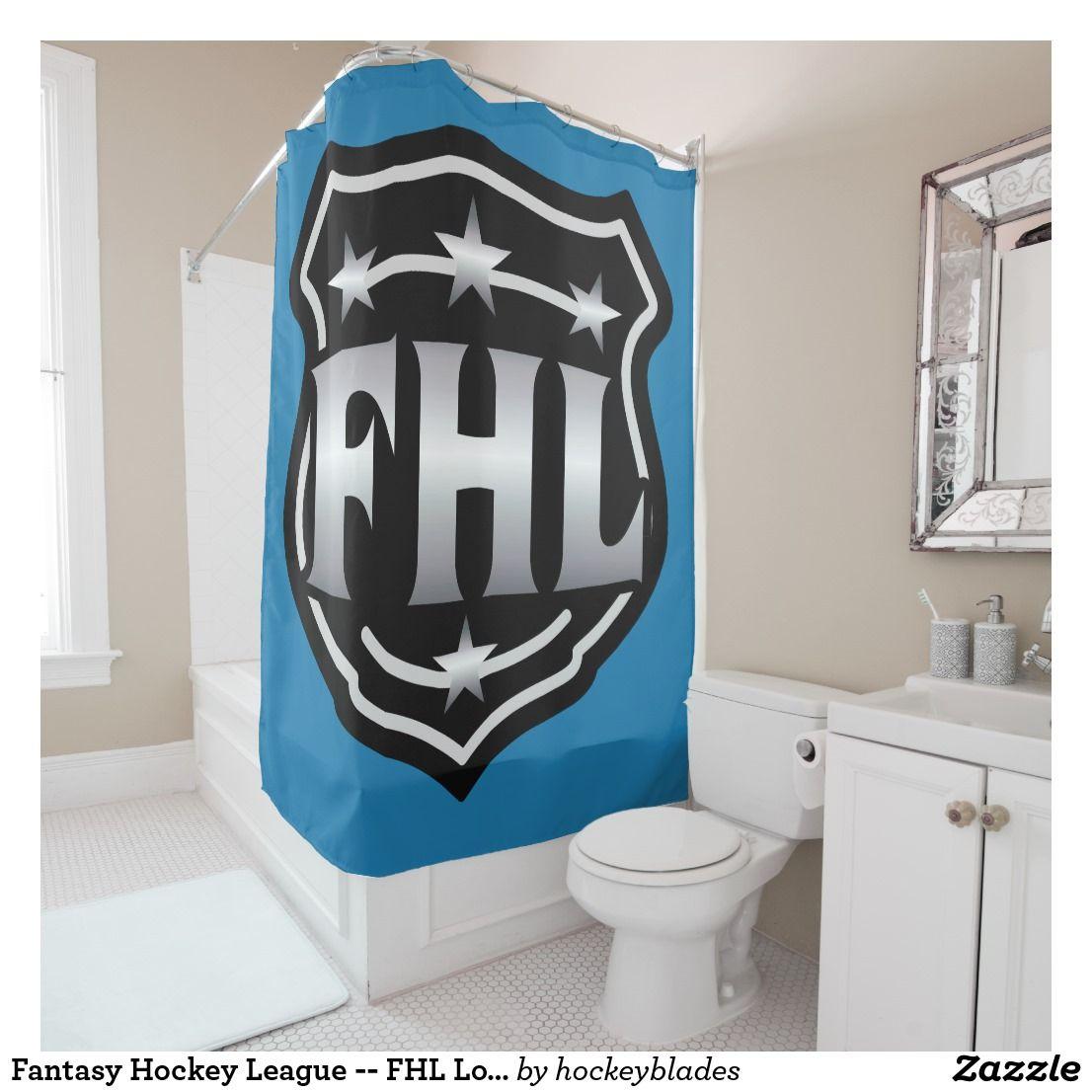 Fantasy Hockey League Fhl Logo Shower Curtain Zazzle Com
