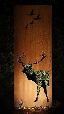 Details Zu Gartenwand Sichtschutz Wand Hirsch Stahl Rost 75x195 Cm