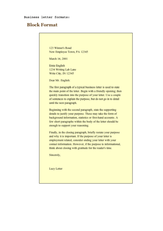 Need A Business Letter Sample HereS A Free Template Create