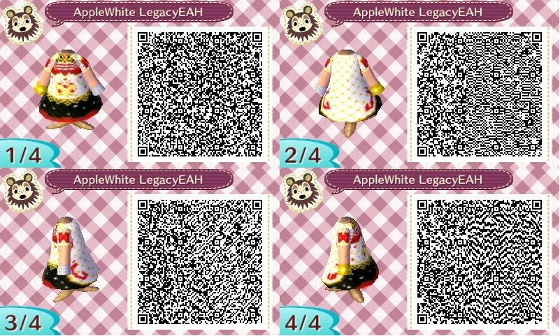 ACNL Apple White Legacy Day QR Code by
