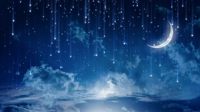 Download Night Clouds Stars Moon Dream Wallpaper 9652 For Desktop