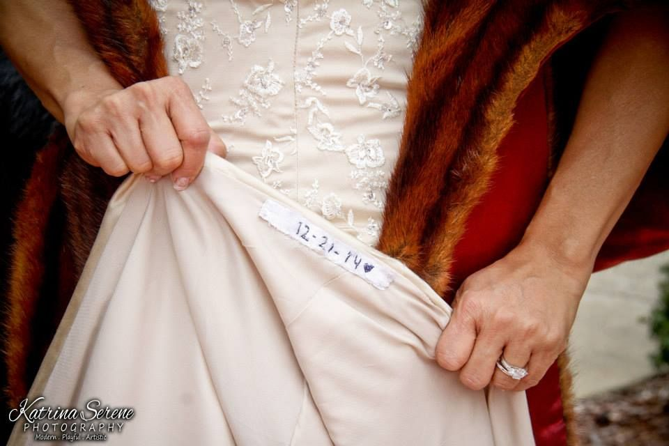 dress detail wedding photo from wedding at the Carnegie Hotel in ...