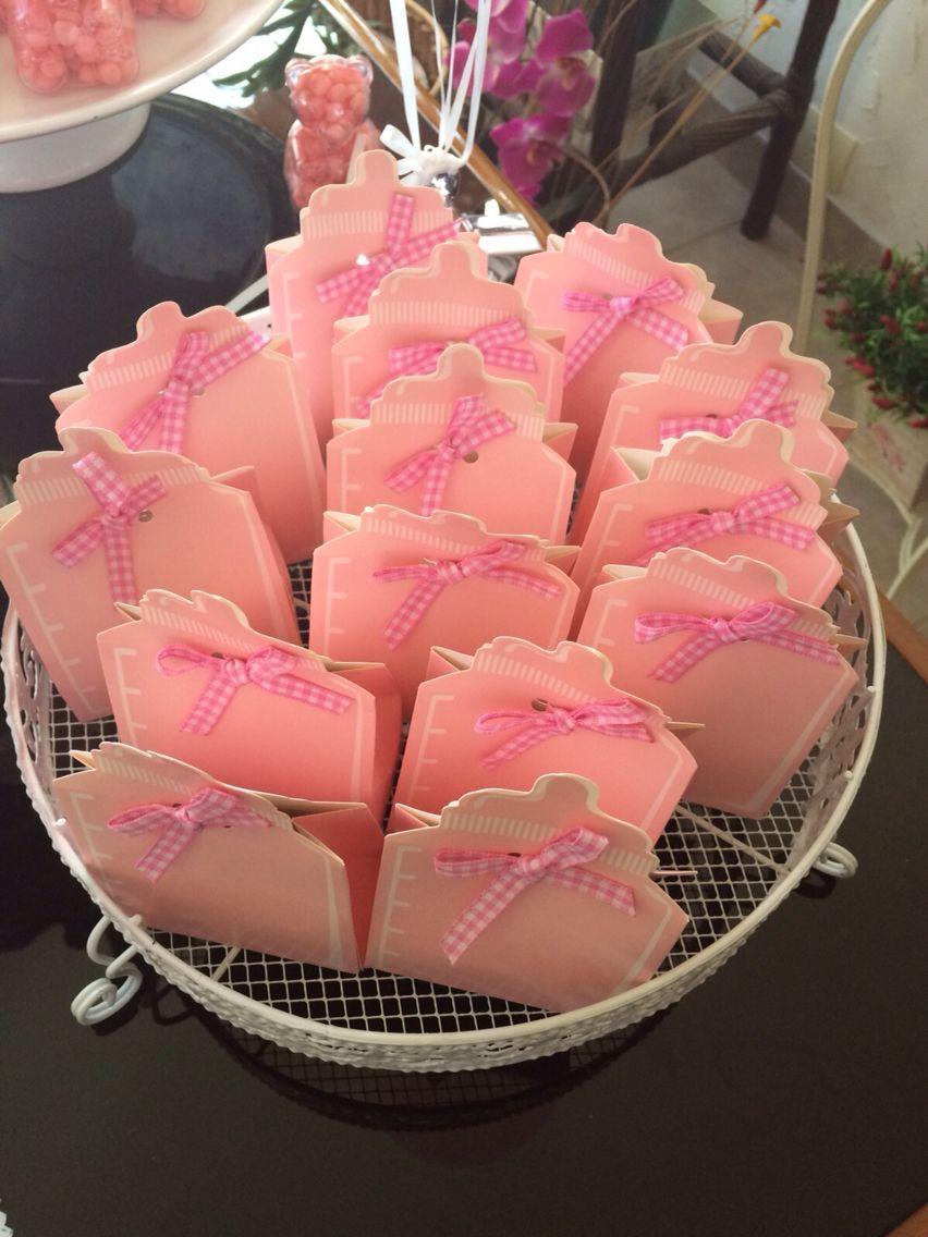 Mamadeiras de papel com cookies - favors