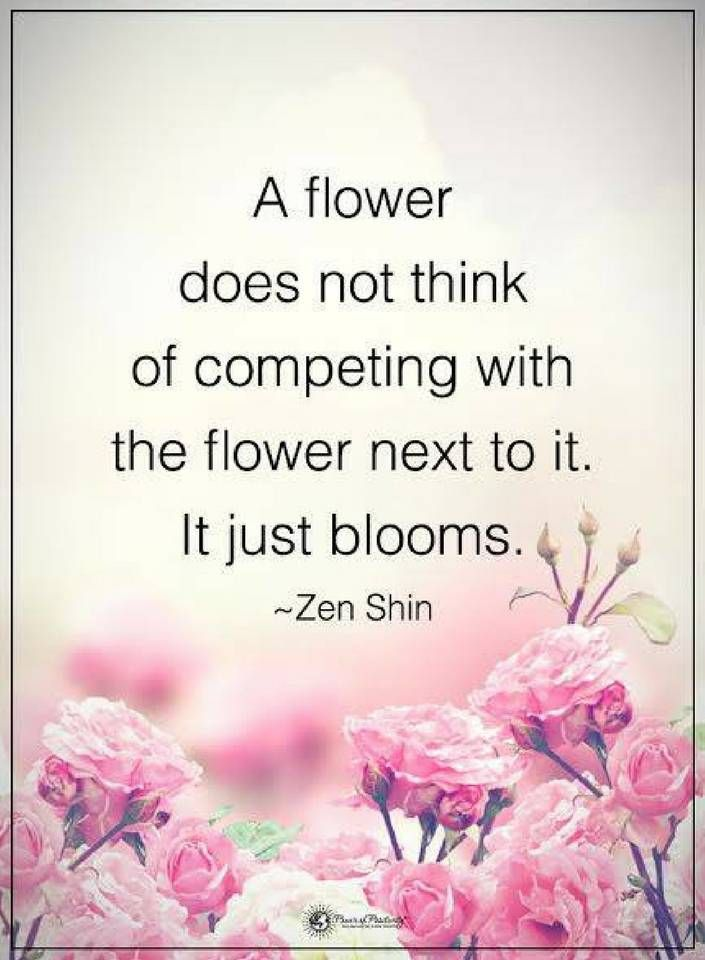 Compare Quotes A Flower Does Not Think Of Competing With The Flower