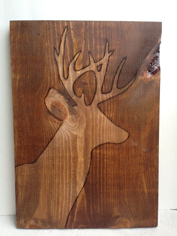 Fish or Deer Wood Board Silhouette Art
