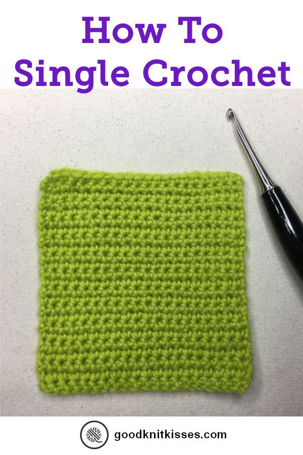 Photo of How to Crochet: Basic Stitches | GoodKnit Kisses #singlecrochet Join my How to C…