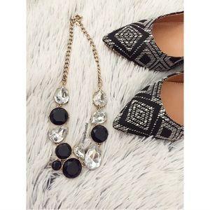 J. Crew Jewelry - J.Crew Black & Crystal Necklace