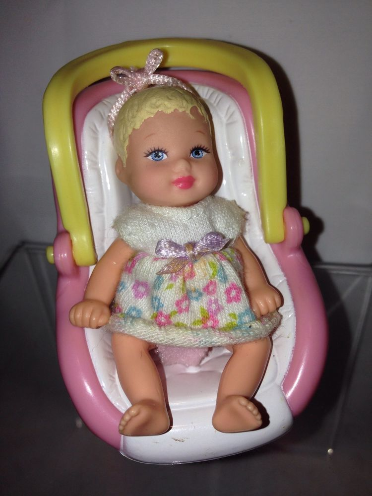 CAR SEAT Barbies Baby Sister Krissy Doll Size Fit For Diorama Display Barbie Car