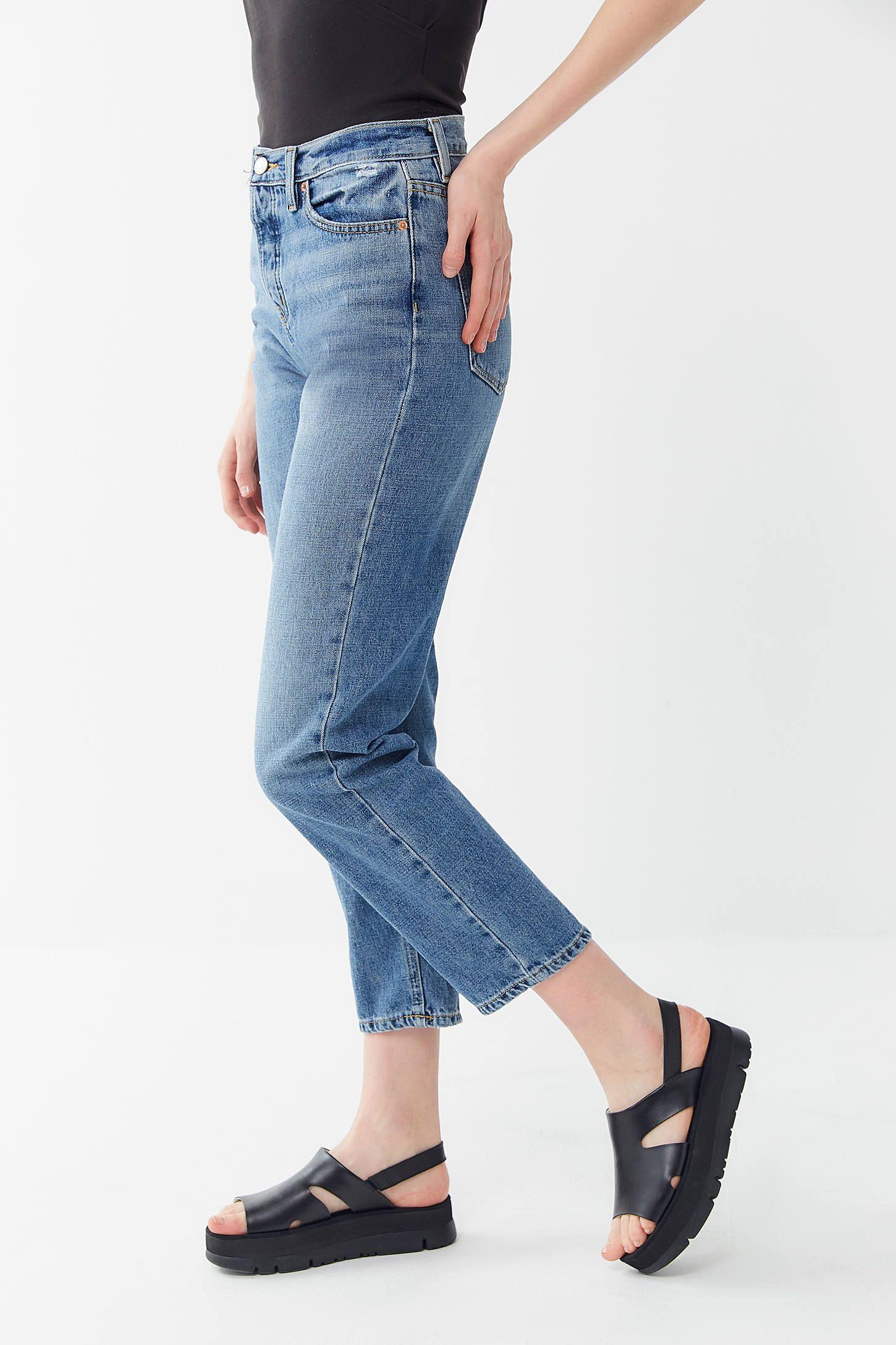 BDG HighWaisted Slim Straight Jean Medium Wash Slim