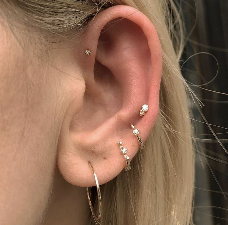 2ef6d2bf45e94 ♕ insta and pinterest @amymckeown5   jewelry in 2019   Ear ...