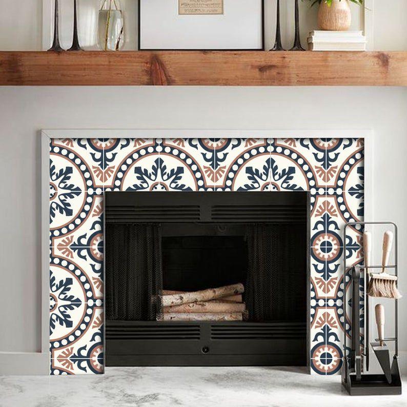 Gemini Wallpaper Removable Vinyl Wallpaper Peel Stick Etsy Vinyl Tile Stick On Tiles Fireplace