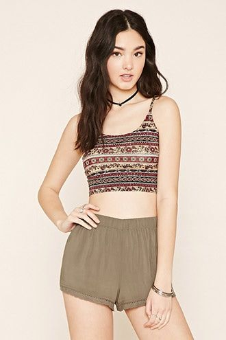 25dc6ce23db94 Buy it now. FOREVER21 Women s Rust   Black Floral Cropped Cami. Cropped  cami