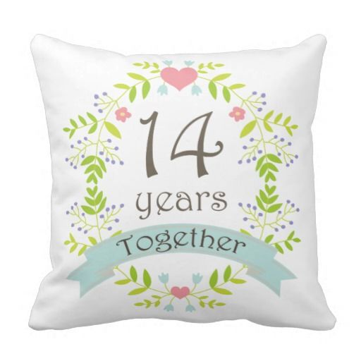 14th Year Wedding Anniversary Gift: 14th Anniversary Gift Throw Pillow