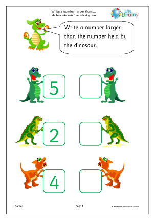 Ordering Numbers Maths Worksheets For Later Reception Age 4 5 Math Worksheet Ordering Numbers Math