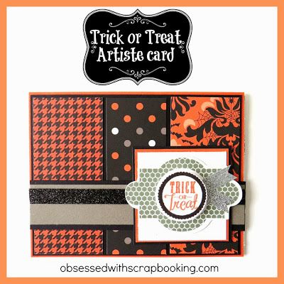 [Video]Trick or Treat Artiste Cricut Card