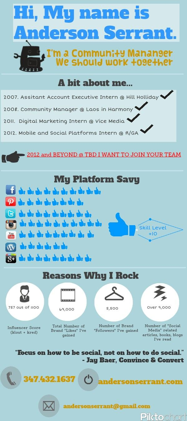My Awesome Social Media Resume  Infographics