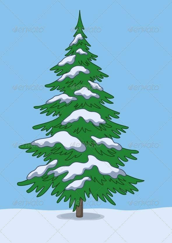 Christmas Tree Snow And Sky Pine Tree Tattoo Christmas Tree Painting Pine Tree Silhouette