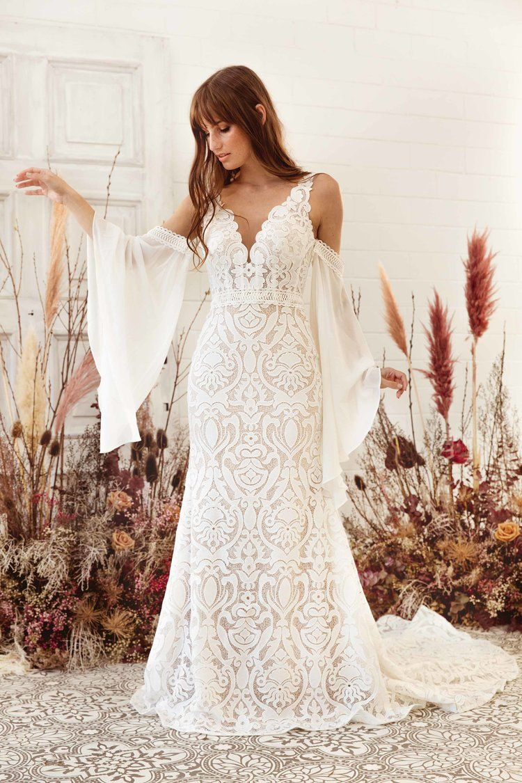 Pin By Signature Bridal Boutique On White April In 2020 Designer Wedding Gowns Wedding Dresses Lace Sheath Wedding Dress