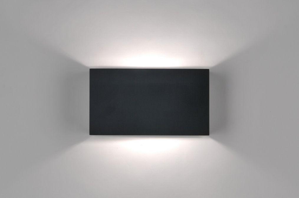 Applique murale moderne design noir mat deco de la