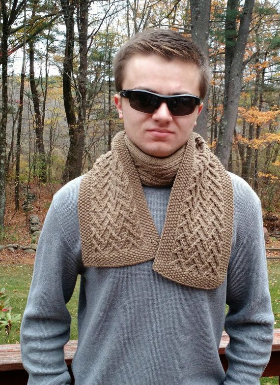 Knitting Pattern Easy Scarf Cowl Neckwarmer Men Women Unisex Diy