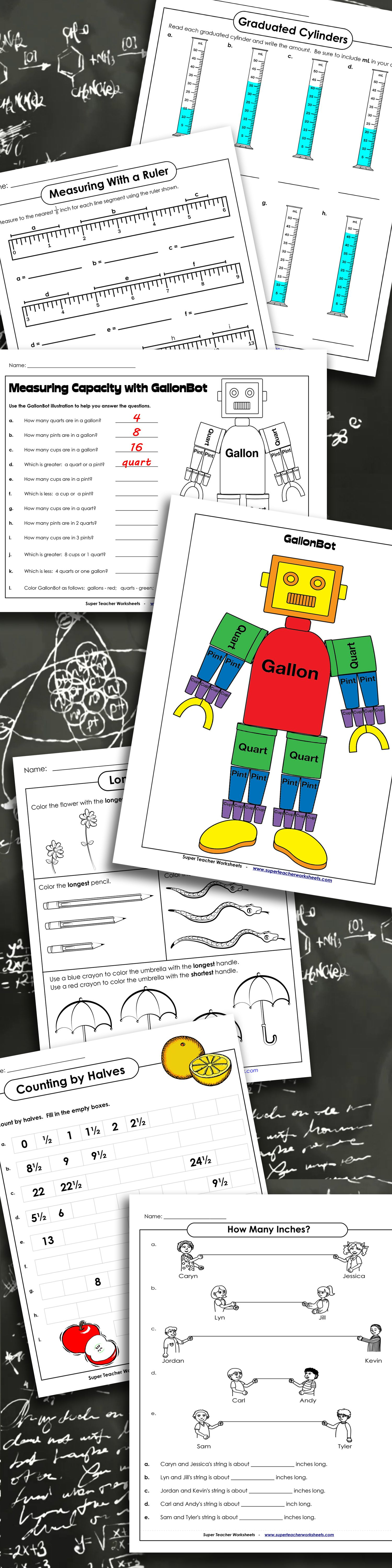 You will find tons of #measurement worksheets and activities on ...