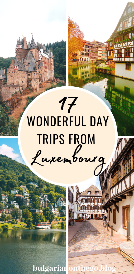 Discover the best day trips from Luxembourg to add to your itinerary - visit medieval castles, historic towns and more. Eltz Castle, Vianden Castle, Esch, Echternach, Schengen, Wiesbaden, Heidelberg, Trier, Mullerthal and many more fun day trip destinations from Luxembourg city.  #luxembourg #luxembourgcity #visitluxembourg