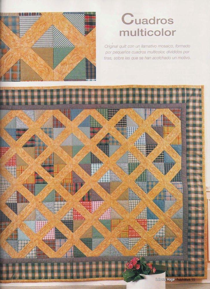 Como hacer colcha en patchwork