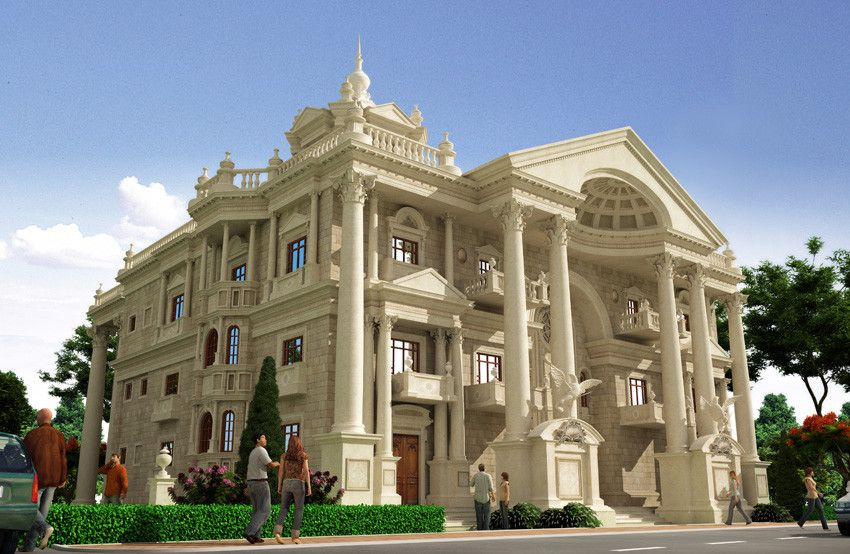 Building other classic villa architecture luxury classic for Modern classic building design